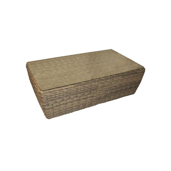 ALU´RESIN WICKER COFFEE TABLE