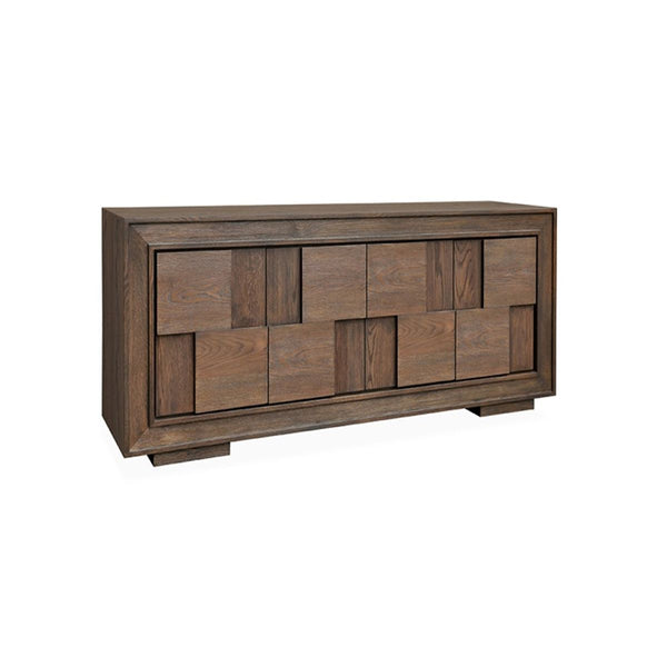 VIENNA BUFFET W/4 DRS TEXTURED WARM GREY OAK #462