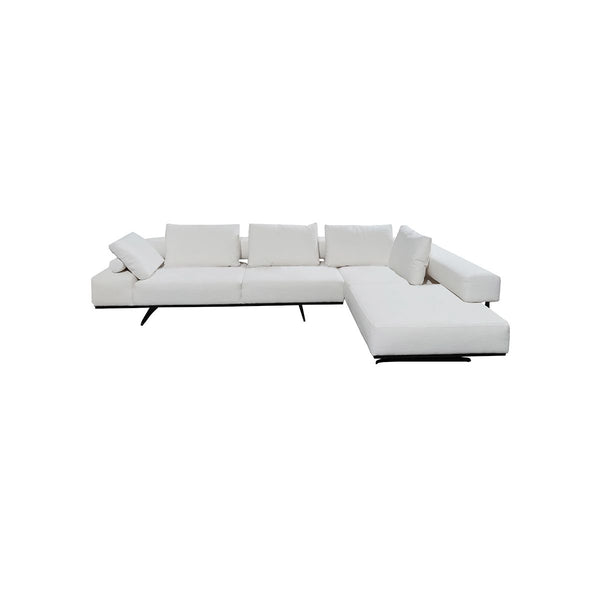 SOFA SECCIONAL EN TELA COLOR BLANCO
