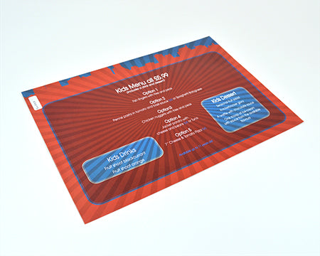 Placemat Menus - Menu Printing Direct