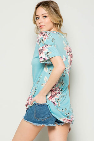 NEW! French Terry Floral Tunic