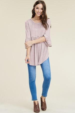 Bell-Sleeved Babydoll Top