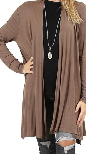 Wide Draped Cardigan with Pockets
