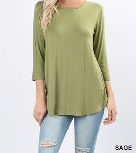 Layering Basics 3/4 Sleeve Top