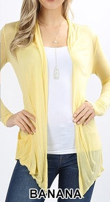 Long Sleeve Waterfall Drape Cardigan