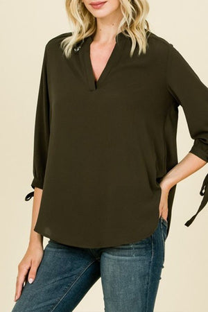 BEST IN BUSINESS ATTIRE! Tie-Sleeve Blouse