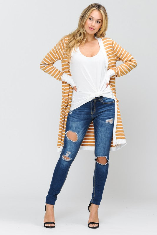 NEW! Stripe Cardigan