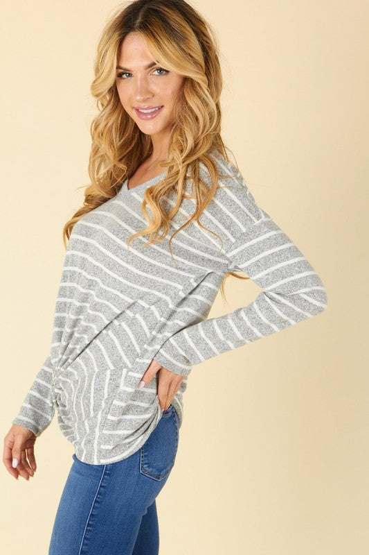 NEW! Stripe Front-Knot Top