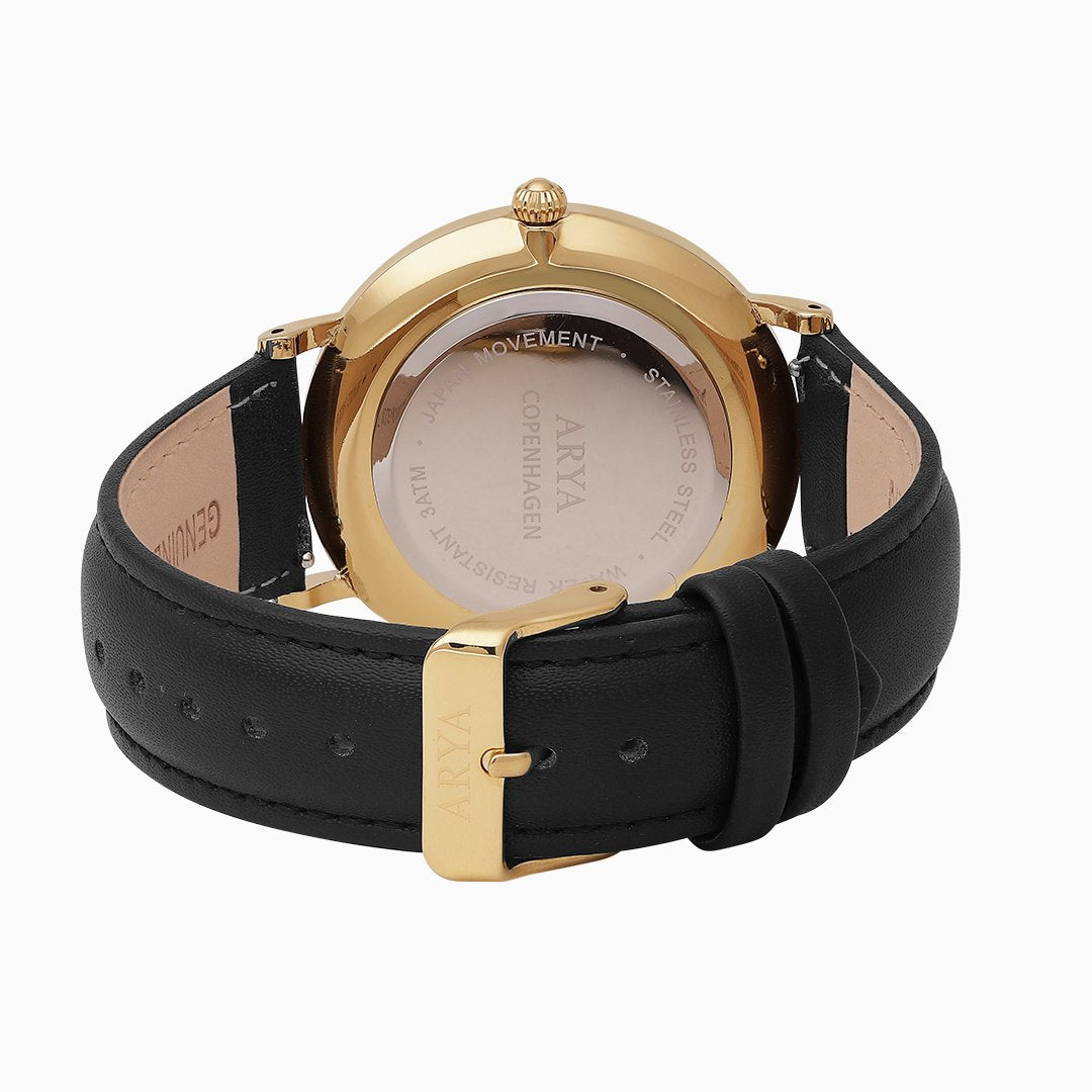Ethereal - Gold | Black Leather