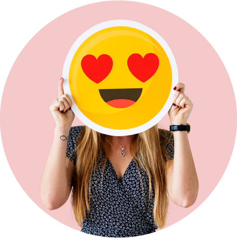"<a href=""https://www.freepik.com/free-photo/cheerful-woman-holding-emoticon-icon_2894272.htm"">Designed by Rawpixel.com</a>"