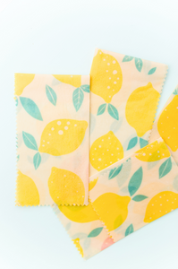 Lemon Beeswax Wraps + Produce Bags