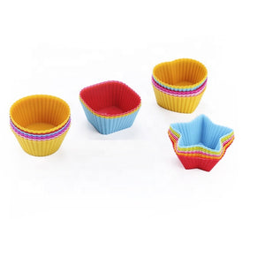 Silicone cupcake molds - 12 piece