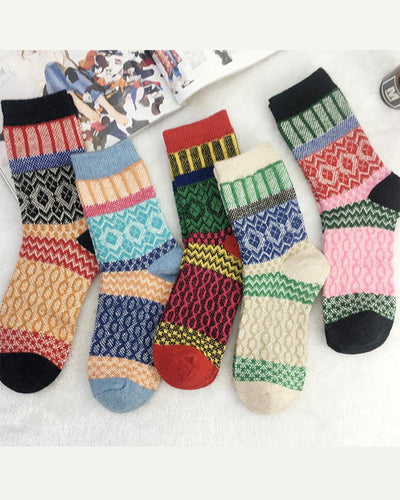 Multicolor All Over Printing Socks