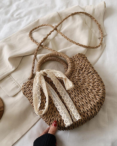 Beach Weave Crossbody Shoulder Bag