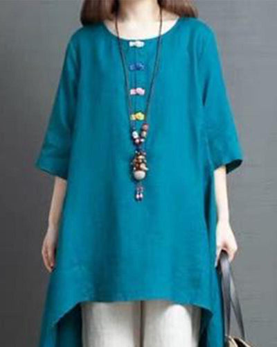 Frog Button Shirt Dress