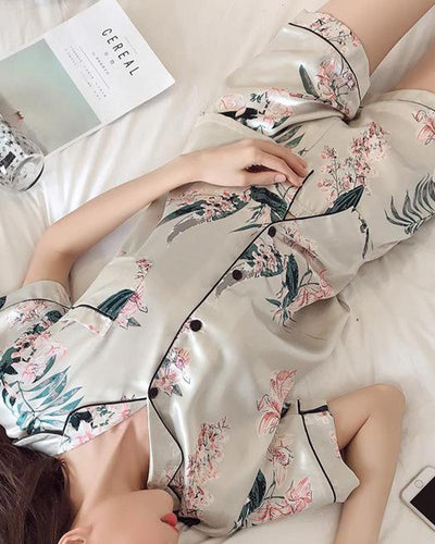 Floral Two-Piece Pajama Set