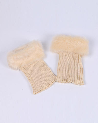 Solid Fluffy Knitted Ankle Socks