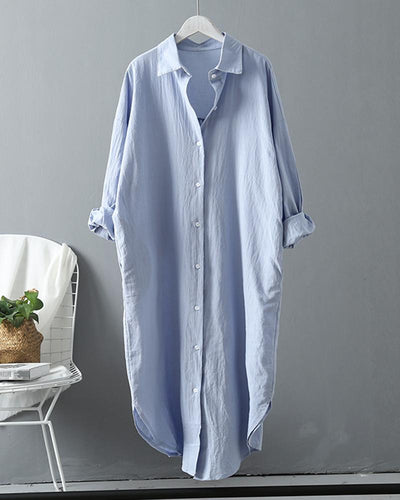 Button Design Long Sleeve Casual Shirt