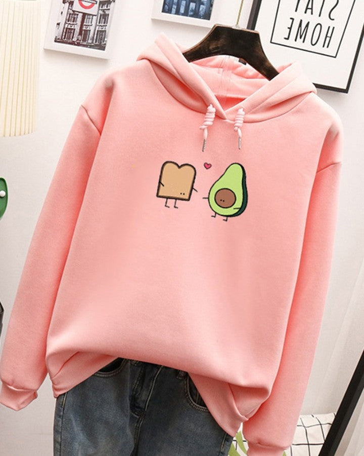 Loose Printing Long Sleeve Sweatshirt