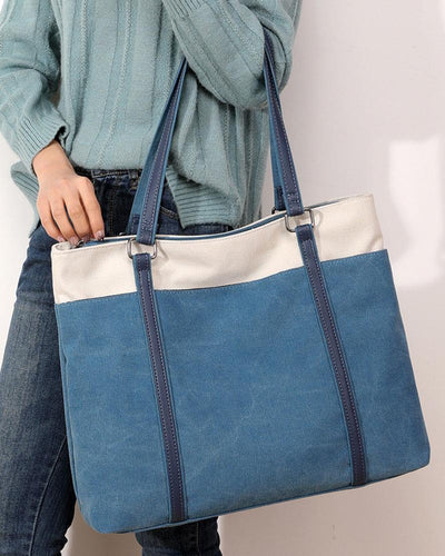 Retro Solid Tote Shoulder Bag