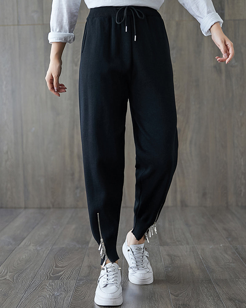 Solid Color Pencil Halen Pants
