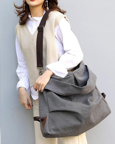 Brief Solid Tote Diagonal Bag