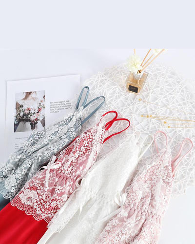 Lace Trim 5pcs Pajama Set