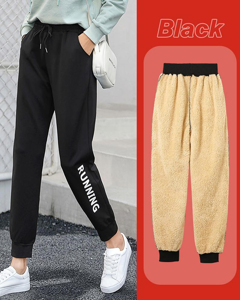Lace-up Sport Pencil Long Pants