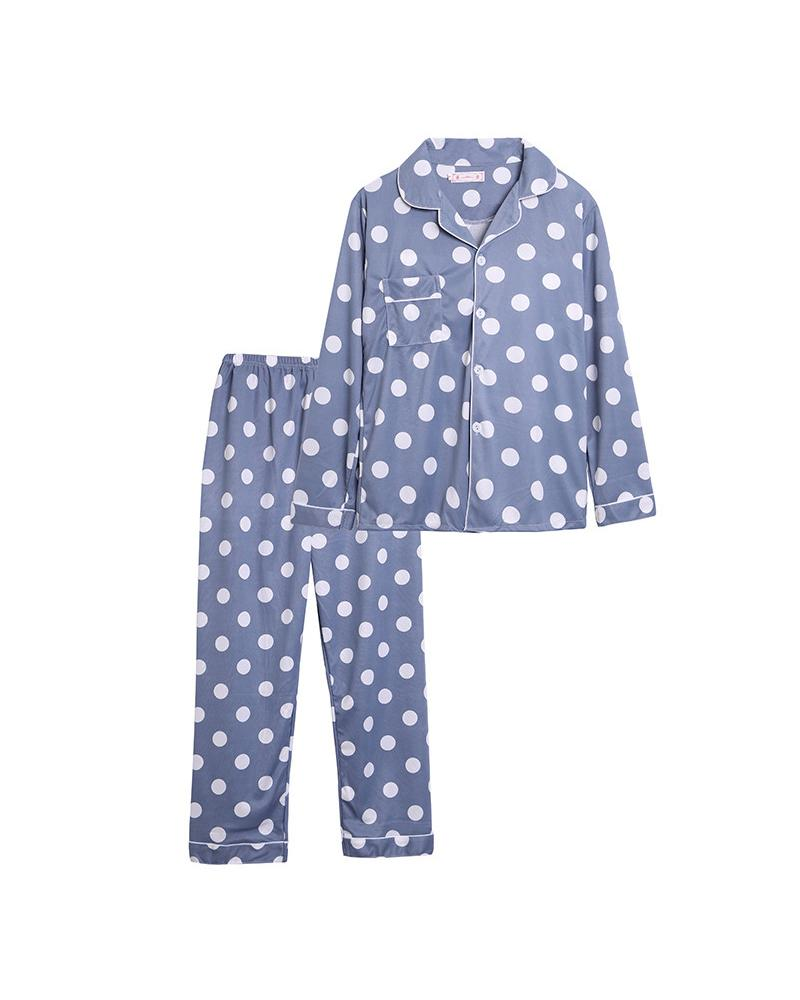 Polka Dot Long Sleeve Pant Sets