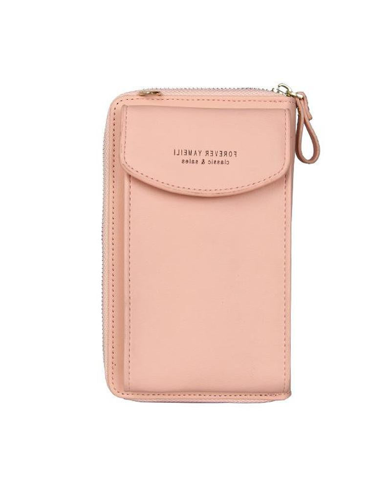 Vertical Side Zip Crossbody Bag