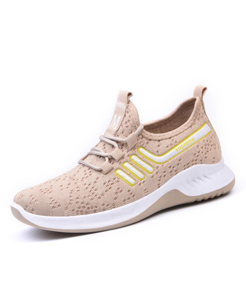Lace-up Mesh Breathable Athletic Sneakers