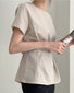 Solid Short Sleeve Slim Waist T-shirts