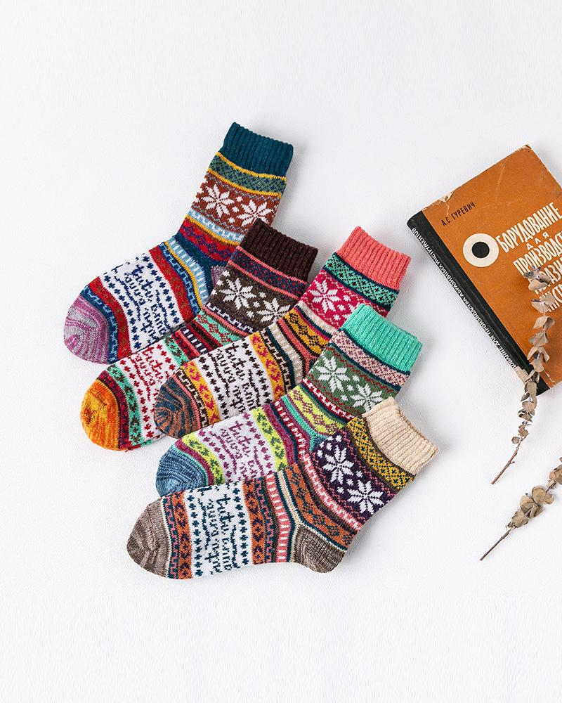 Thick Thread Retro Rabbit Wool Socks