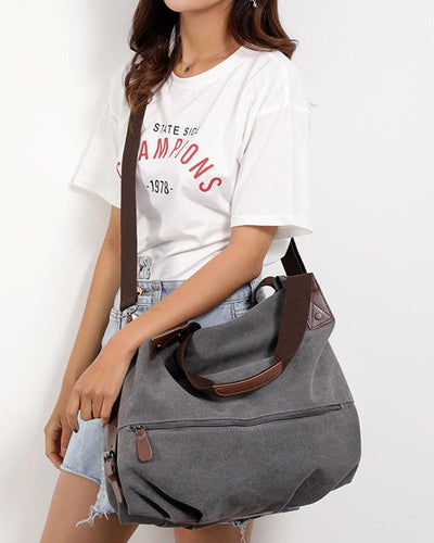 Brief Canvas Tote Diagonal Bag Handbag