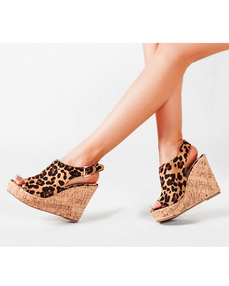 Brief Fish Mouth Platform Sandals
