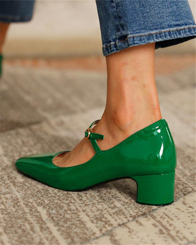 Square Toe Heeled Mary Janes