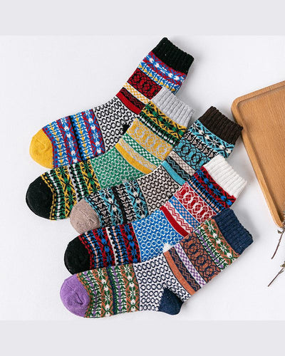 National Style Multicolor Printing Socks