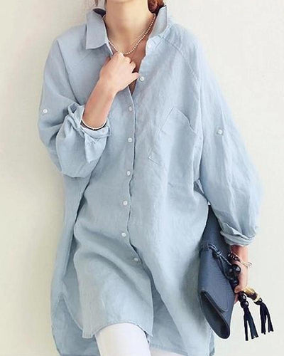 Loose Fit Button-Down Tunic