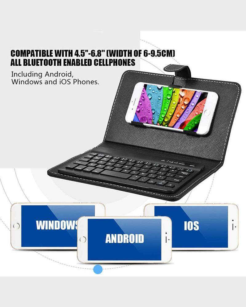 Mobile Phone Keyboard Leather Case
