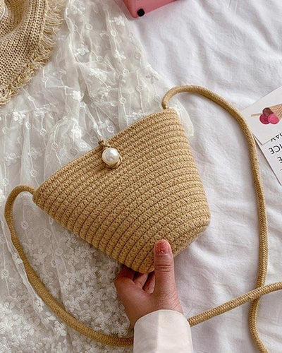Straw Weave Beach Shoulder Bag