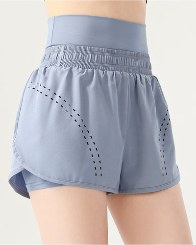 Solid Color High Waist Sport Short Pants