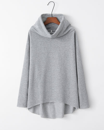 Solid Long Sleeve Loose Sweatshirts