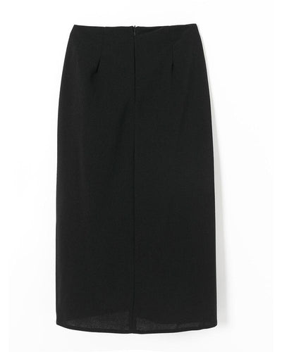 Folds Solid Color Midi Skirt