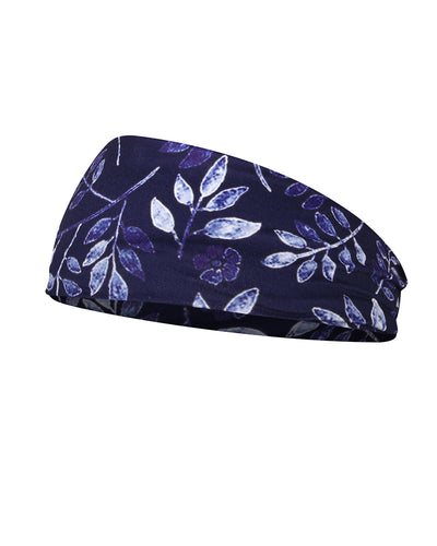 Leaf Print Yoga Elastic Headwraps Head Wrap Hair Band