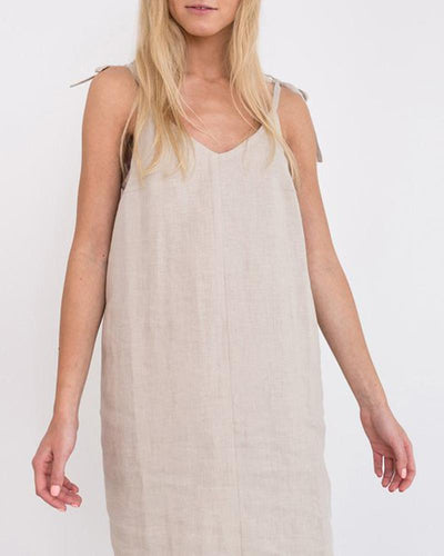 V Neck Tie Strap Cami Dress