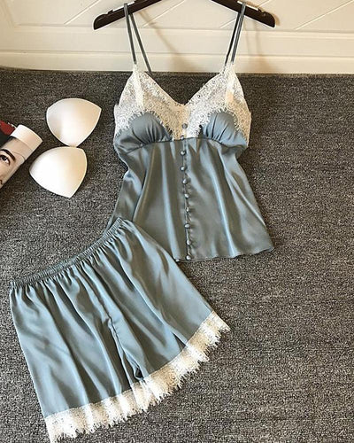 Lace Trim Cami Top & Shorts