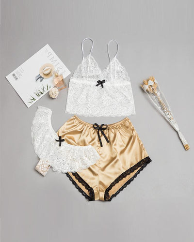 Lace Detail 3Pcs Cami Set