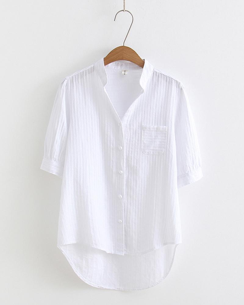 Brief Off White Short Sleeve Shirt
