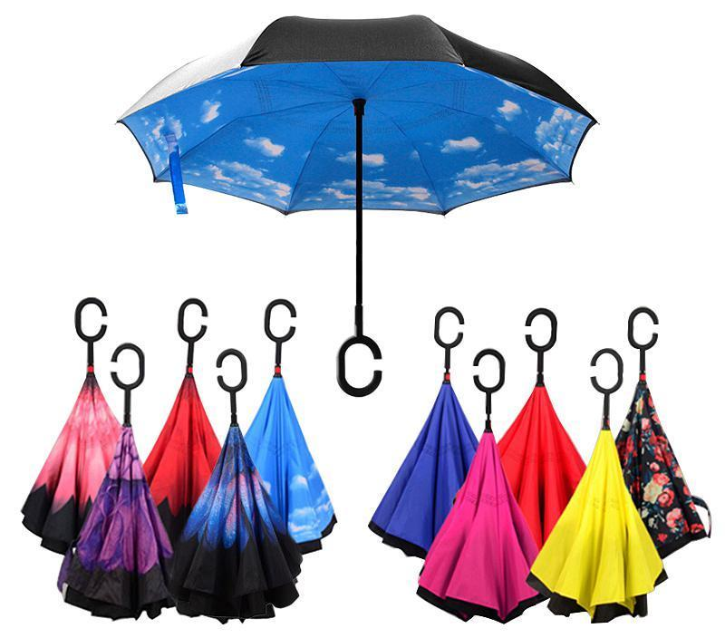 Reverse-able Double Layer Umbrella