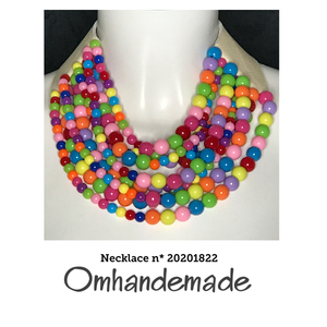 20201822 Collana girocollo multicolor - Omhandemade